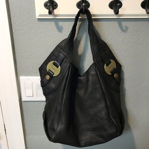 Fifty Four gray leather Fossil Hobo bag